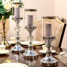Candelabros De vidrio nórdico para Mesa De boda, Centro De Mesa De decoración romántica De oro moderno, De Metal, MM60ZT