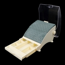 142 Holes Tooth Bur Block Holder Autoclave Sterilizer Case Disinfection Box New Holds /Holder Station+Pull Out Drawer