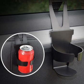 Universal Car Truck Door Mount Black Drink Bottle Cup Holder Stand Car Interior Accessories For Window Seat Headrest image