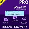 Профессиональный подлинный лицензионный ключ WIND 10 PRO-Мгновенная доставка 3 минуты-глобальная онлайн Активация в течение всего срока службы