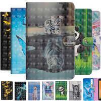 Funda tipo billetera para Huawei Mediapad M3 lite 8 CPN-L09 CPN-W09, Protector de cuero de 8,0 pulgadas con dibujos animados 3D para tableta inteligente