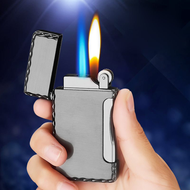 Cigar Cigarettes Lighter Turbo Torch Electronic Lighters Smoking Accessories 2019 New Creative Metal Gas Lighter Gadgets For Men