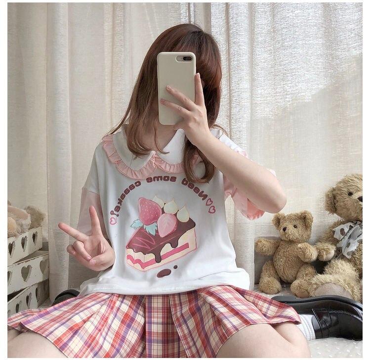 Lolita Style Short Sleeve Kawaii T-Shirt Harajuku Top