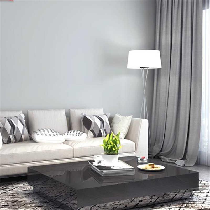 Beibehang обои в скандинавском стиле для спальни гостиной простой современный простой светильник серый сплошной цвет для дома ins нетканые обои
