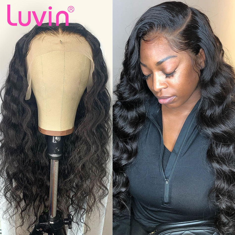 <font><b>Luvin</b></font> 150 Density Body Wave 2x6 13x4 Front Wig Lace Frontal Wigs L Deep Part Brazilian Human <font><b>Hair</b></font> Pre Plucked With Baby <font><b>Hair</b></font> image
