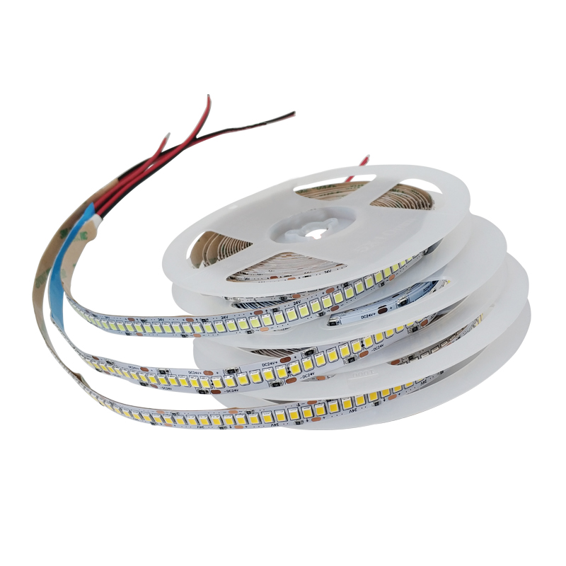 DC 5V 12V 24V SMD 2835 Led Strip Light 5m White LED Strip Tape Not Waterproof Lamp Light Strips Kitchen Home Decor TV Ledstrip