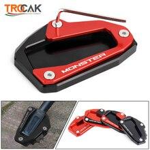 รถจักรยานยนต์Kickstand Extensionด้านข้างสำหรับDucati Multistrada 1200 1200S 1200GT Monster 696 796 821 1200