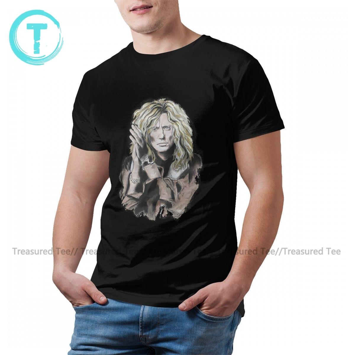 Whitesnake T Shirt Funny Cotton Summer T-Shirt Short Sleeve Print Tshirt 5XL Man