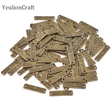 Chzimade 100Pcs/lot Vintage Metal Alloy Handmade Labels Tags Hand Made Sewing Labels For Clothes Diy Sewing Materials