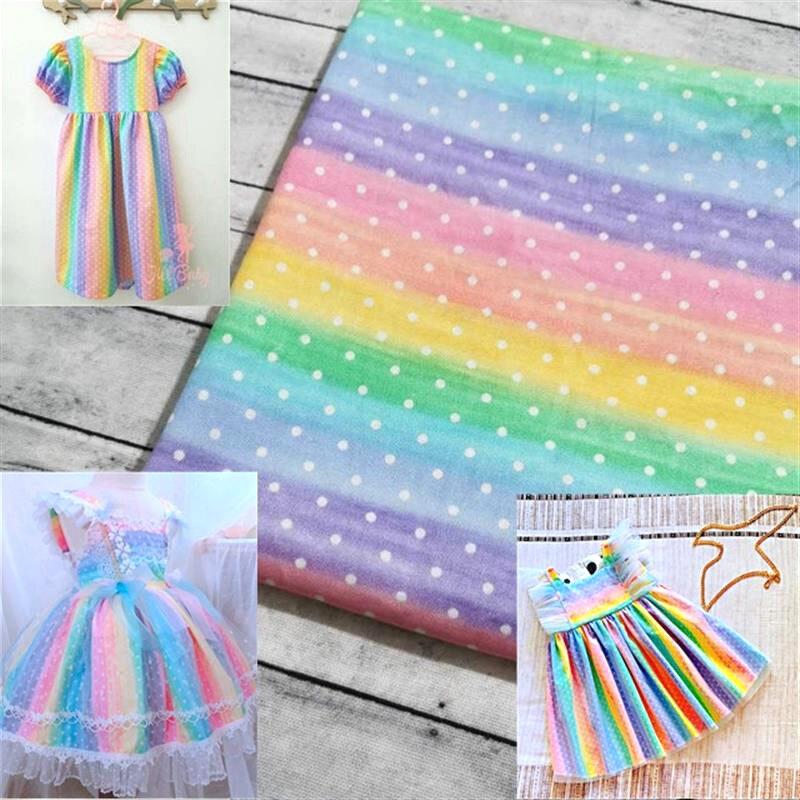 50*110CM 100% cotone stampato tessuto arcobaleno scala di pesce fai da te fatto a mano per borse per vestiti