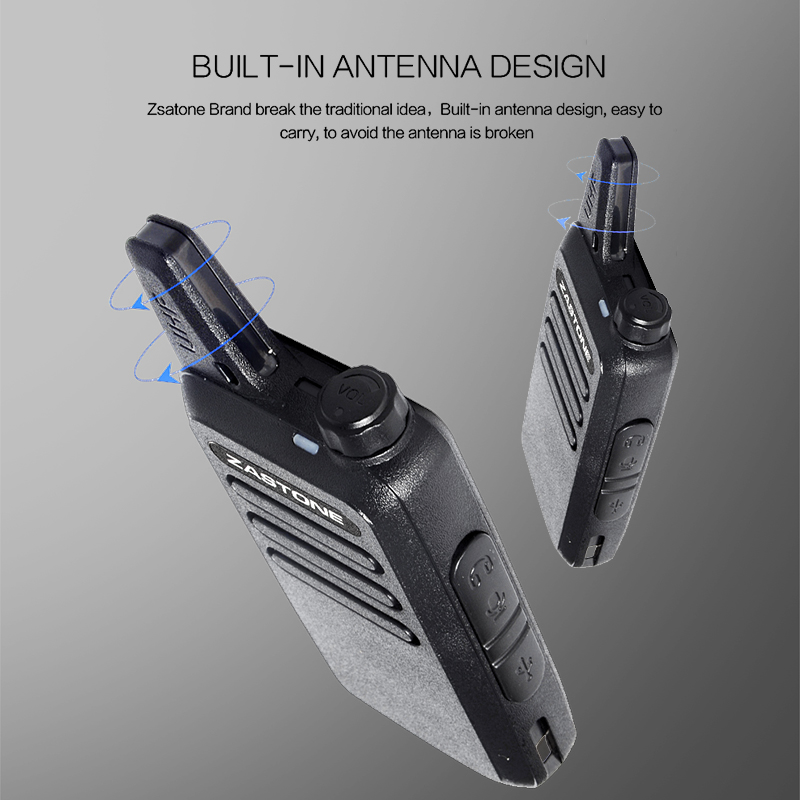 New Zastone ZT-X6 Mini Walkie Talkie with Headset 400-470Mhz Frequency UHF Handheld Radios Comunicador Portable 2 Way Ham Radio