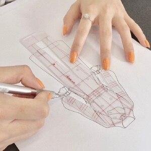 Image 5 - Женская модная дизайнерская линейка, оригинальная Женская одежда, модель человеческого тела, женский шаблон, линейка, подходит для бумажного дизайна формата А4