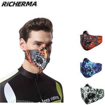 Odkryty sportowy motocykl osłona twarzy pyłoszczelna Biker maska ochronna na twarz oddychająca kominiarka Moto jazda taktyczna Miltary 3D Masker tanie i dobre opinie Richerma Oddychające Szybkie suche Wiatroszczelna SM003 Face Shield Mask Graffiti Pattern Navy Blue Gray-Green Orange Red