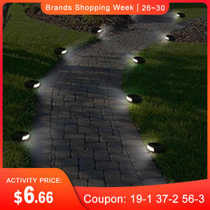 CLAITE Light Street-Lamp Garden-Stone-Lights Square Fence Pathway Lawn Landscape Solar