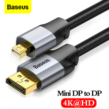 цена на Baseus Mini DP to DP Cable 4K Male to Male Cord DisplayPort to Mini Display Port Cable Adapter for PC HDTV Viedo Digital Cable