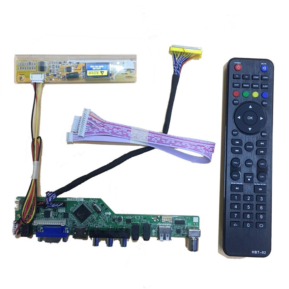 HDMI+DVI+VGA LCD Controller Board Driver Lvds Kit for LTN160AT01 1366X768