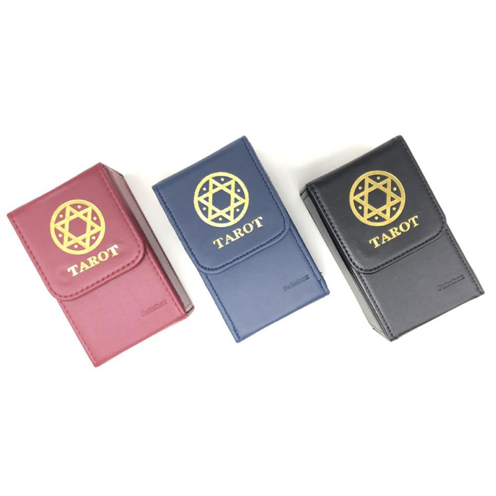 Высококачественная коробка для хранения Таро, Двойная кожаная коллекция, настольная игра, коробка для карточных игр, портативная коробка д...