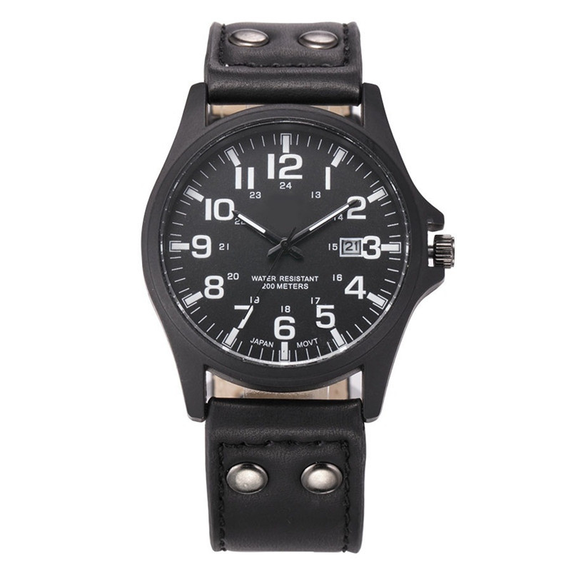 For 9-18 Years Old Sports Children's Watch Military Sports Car Style Man Watches Leather Wristwatch Child Student Clock Calendar