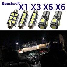 Canbus светодиодный светильник для номерного знака+ Внутренняя купольная карта, подвесной светильник, комплект лампочек для BMW X1 E84 X3 E83 F25 X5 E53 E70 X6 E71