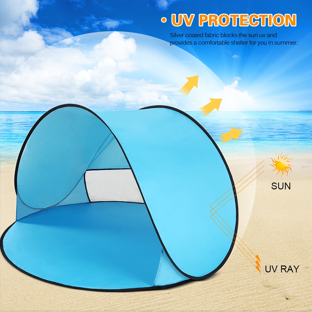 Instant Pop Up Tent Baby Beach Tent Cabana Portable Anti UV Sun Shelter for Camping Fishing Hiking Tents Outdoor Camping image