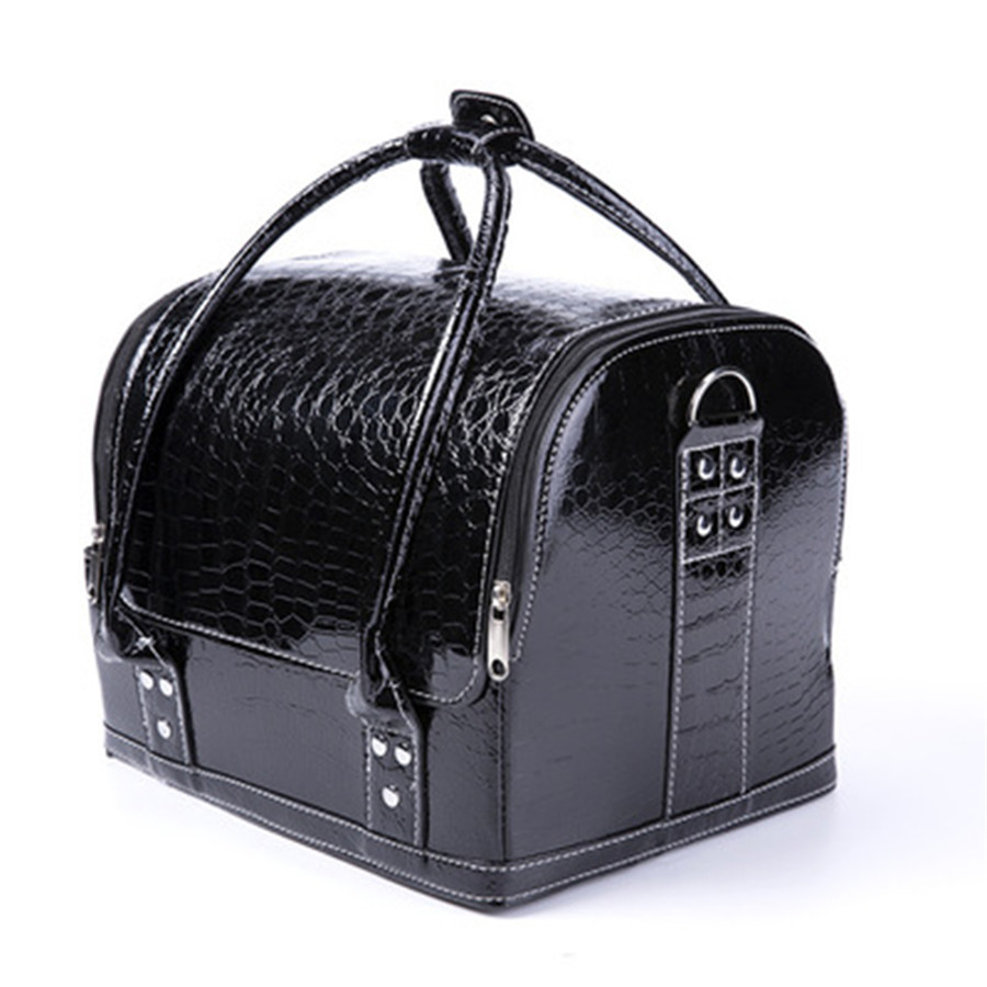 Large Capacity Pu Leather Cosmetic Bag Female Storage Bag Professional Travel Makeup Box Woman Tote Bag Paste Box