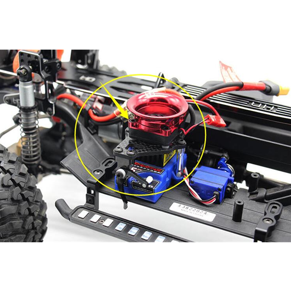 Crawler Rc Toy Car Part Aluminum ESC Cooling Fan With EZ Switch For 1/10 Remote Control Car Traxxass Trx4 Upgrade Accessories