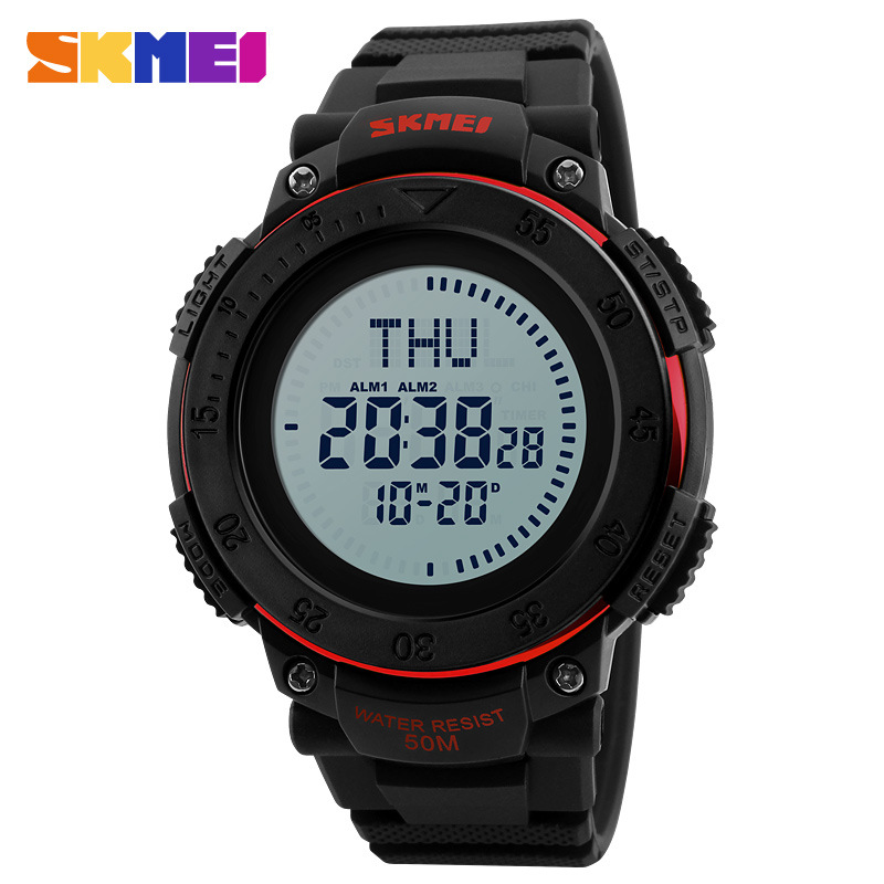 <font><b>Skmei</b></font> <font><b>1236</b></font> Multi-functional Outdoor Electronic Watch Made in China Movement Silicone Band Sports Watch image