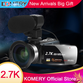 KOMERY New Arrivals Video Camera Camcorder 3.0 inch IPS HD Touch Screen Real 2.7K Original Digital Cameras and Recorder