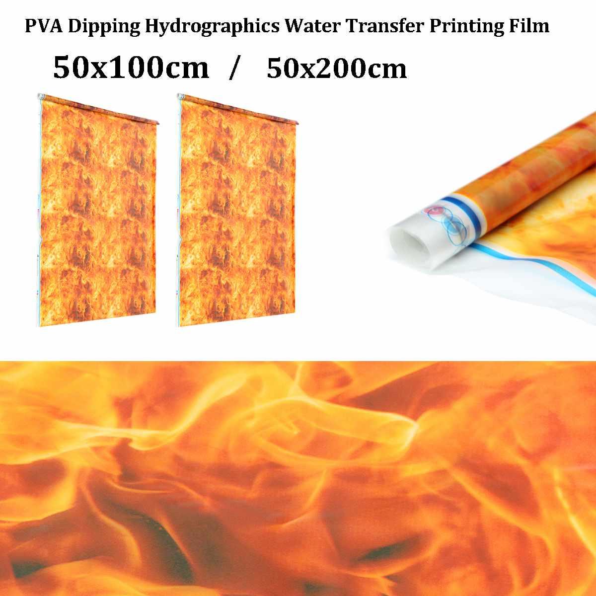 50x100cm/50x200cm Orange PVA Hydrographic Film Water Transfer Printing Film Hydro Dip Style  Decals Stickers