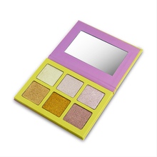 Private Label Makeup Cosmetics Pressed Glitter OEM 6 Color Highlighter Palette Wholesale Retouching The Face Highlight Powder