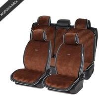 Car Seat Cover luxury plush car seat cushion Plush Suede long Striped Car interiors Leather For sedan SUV MPV 1set for all auto