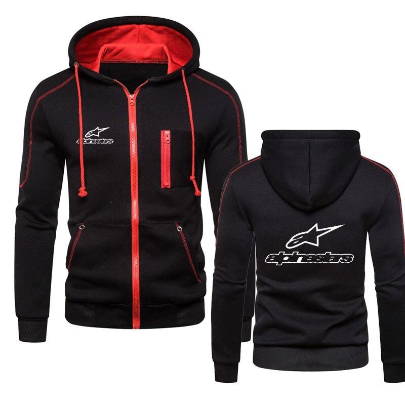 Hoodie Men Fleece Coat Alpinestar Print Sweatshirt Man Pullover Hip hop Zipper Men Hoodie Sweatshirt Jacket Moda Para Hombres