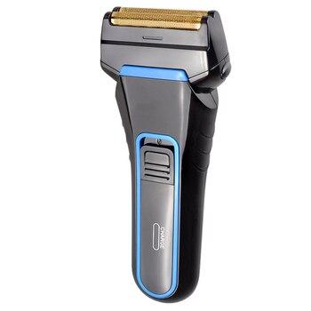 цена на Men Electric Beard Shaver Rechargeable Cordless Moustache Trimmer Double Razor Ergonomic Quick Safe Shaving EU Plug