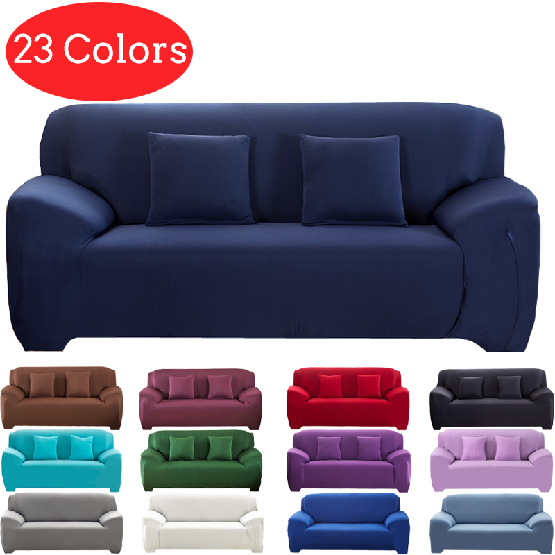 Solid Color Corner Sofa Covers For Living Room Set Elastic Sofa Cover U Shape Sofa Cover L Shaped Stretch 1 2 3 4 Seater Dog Pet