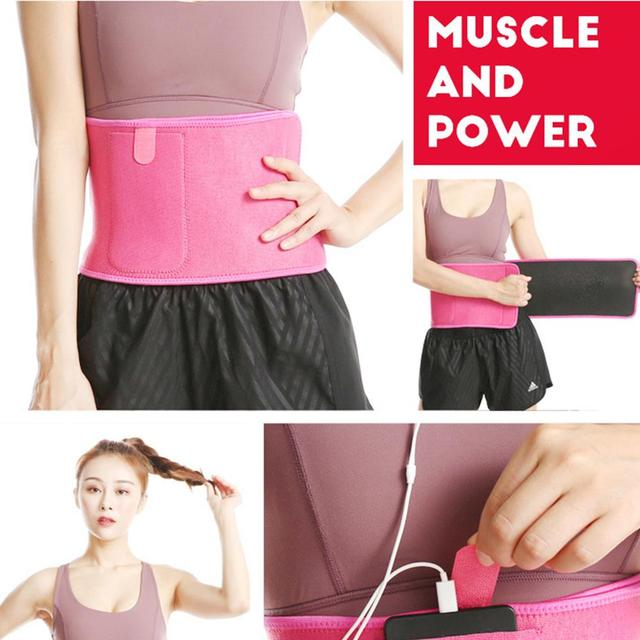 Adjustable Pocket Fitness Waist Belt Exercise Neoprene Weight Loss Sweat Waistband Slimming Gym Training Abdomen Lumbar Support 3