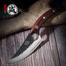 Boning-Knife Cleaver Ebony-Handle Handcrafted Chef Butcher Sharp Full-Tang Chicken SAKARI