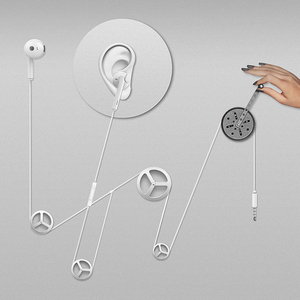 Image 2 - Original Huawei p smart z Earphone AM115 Half In ear Headset With Microphone / Volume Control / Noise Canceling For P10 P20 lite