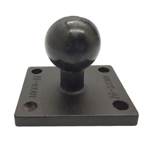 Image 1 - Aluminum Square Mount Base with Ball Head for Ram Mount for Garmin Zumo/TomTom
