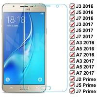 9D Schutz Glas Für Samsung Galaxy S7 A3 A5 A7 J3 J5 J7 2016 2017 J2 J4 J7 Core J5 prime Ausgeglichenes Glas-schirm-schutz