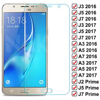 9D szkło ochronne do Samsung Galaxy S7 A3 A5 A7 J3 J5 J7 2016 2017 J2 J4 J7 rdzeń J5 hartowanego szkło hartowane tanie i dobre opinie NAKPOE Przezroczysty TEMPERED GLASS FOLIA HD Folia hartowana Bez obsługi BD CN (pochodzenie) Folia na przód