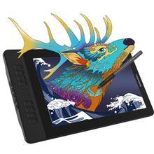 Gaomon caneta de desenho de tablet, pd1561 15.6 polegadas ips hd, gráficos, monitor 72% ntsc, função de inclinação com 10 atalho chave chave,