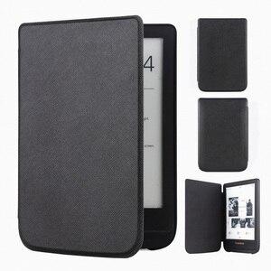 Тонкий кожаный чехол для Pocketbook Touch Lux 4 627 HD3 632 Basic2 616 Ereader + экранная пленка