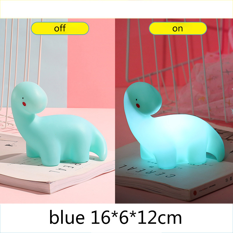 Cartoon Dinosaur Lamp Night Light Children Kids Toys Birthday Xmas Gift Home Decorations Bedroom Bedbeside Light