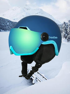 Ski-Snow-Helmet Shield Detachable-Mask Goggles Night-Vision-Lens Integrated with 2-In-1