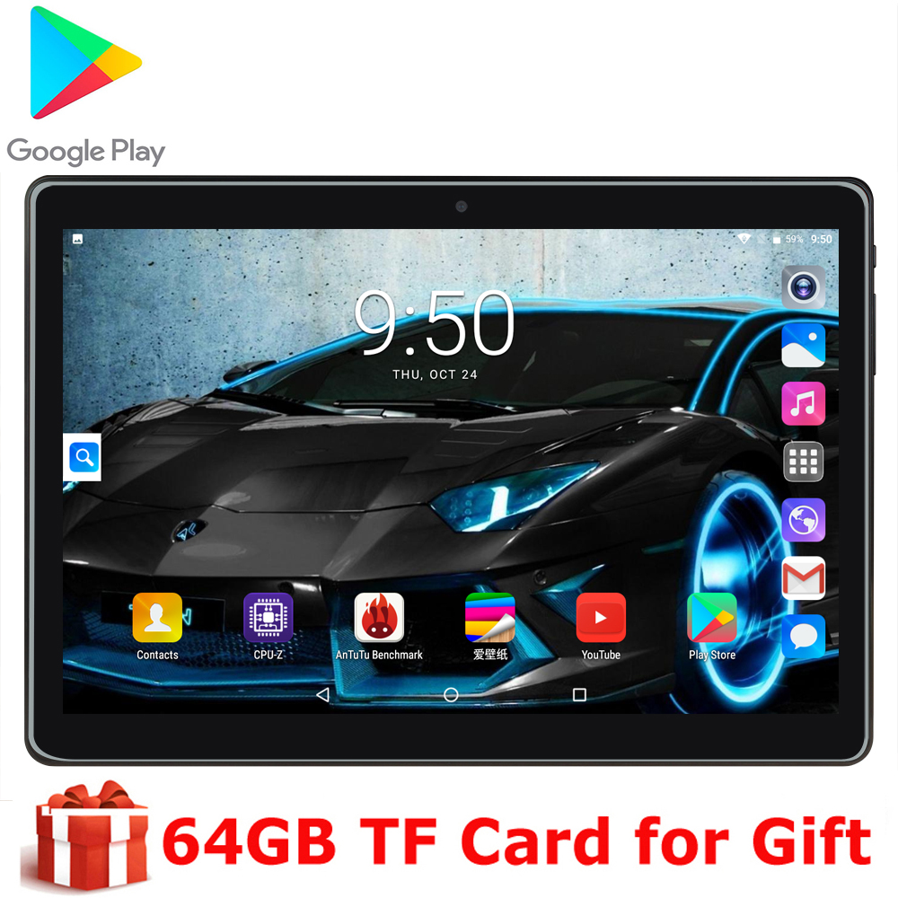 Children Tablet PC 10 Inch Original Tablet Phone Phone Dual Camera Dual SIM Card Phone Android 9.0 OS Wifi GPS With Free Gift