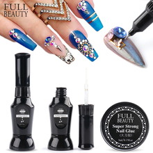 Nail Rhinestone GelFor Manicure Strong Sticky Crystal Diamond Nail Art Accessory Viscosity Glue With Brush Adhesive Tool CH1826