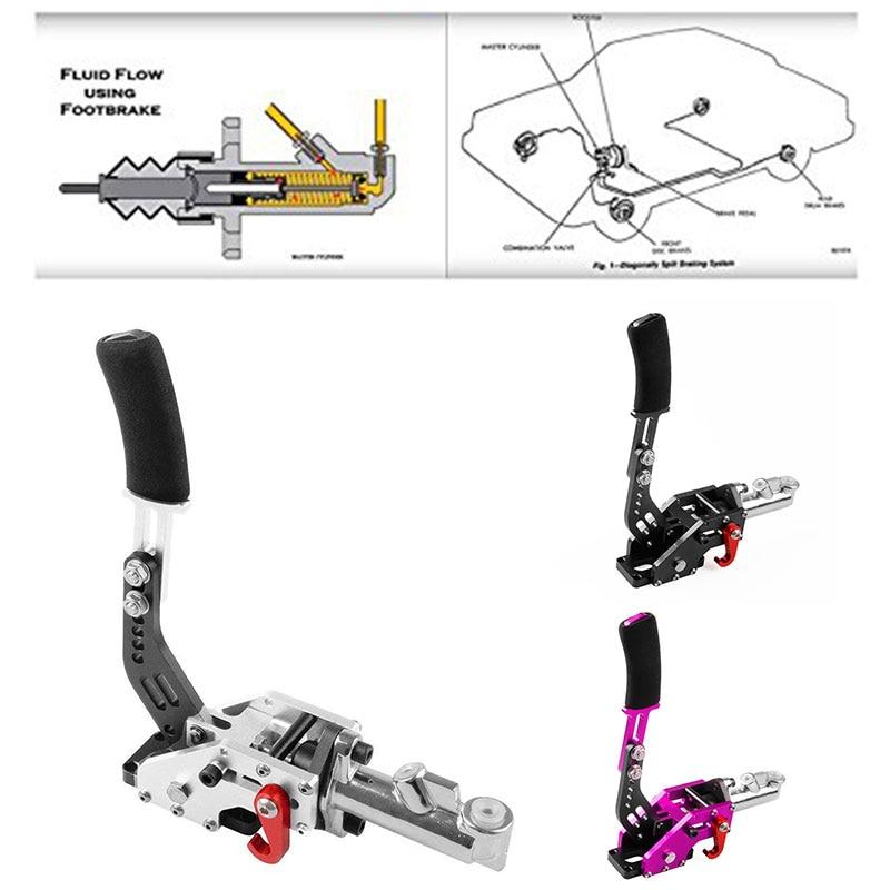 Hydraulic Handbrake Modified Handbrake Competitive Car Hand Brake Vertical Installation Braking Effect Cars Racing Universal|Hand Brake| |  - title=