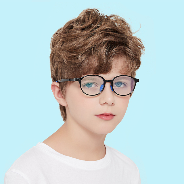 Фото детские очки с защитой от синего света tr90 для подростков регулируемой