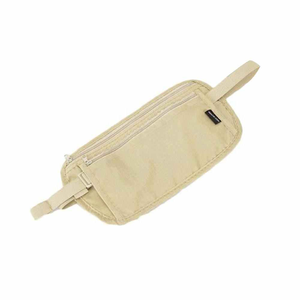 Cinturón de viaje ajustable bolsa de cintura monedero billetera pasaporte soporte de teléfono móvil