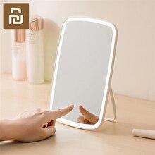 化粧鏡ledライトポータブル折りたたみ光ミラー寮自宅のデスクトップポータブルミラースマート製品